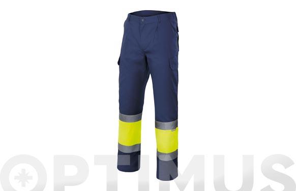 Pantalon bicolor alta visibilidad t m marino / amarillo