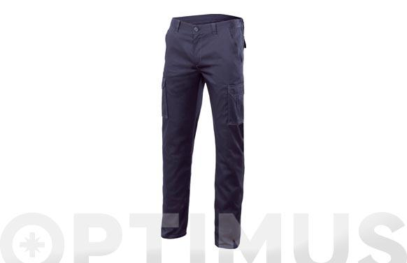 Pantalon multibolsillos stretch t 42 azul marino