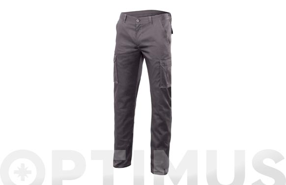 Pantalon multibolsillos stretch t 38 gris