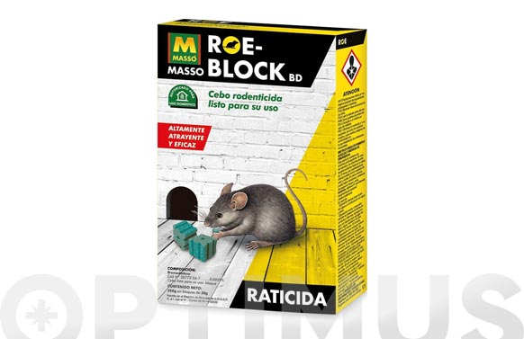 Raticida roe block 260 gr