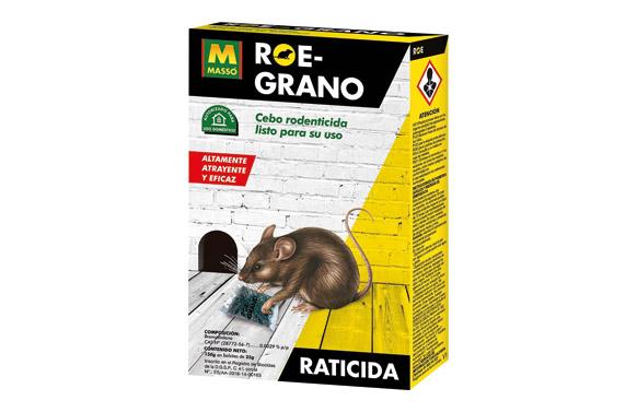 Raticida roe grano 150 gr (6 bolsas x 25 gr)
