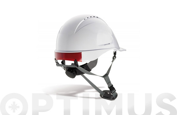 Casco proteccion con barbuquejo mountain blanco