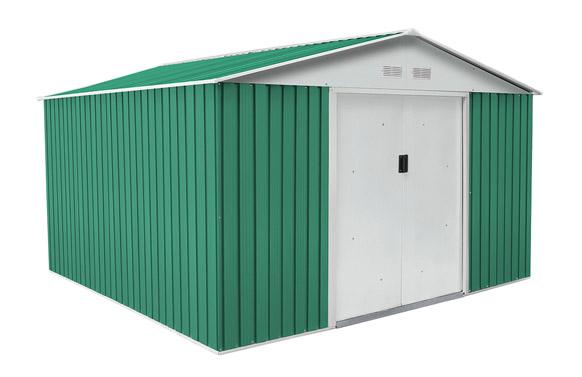 Caseta metalica verde coventry 9,66 m2 a321 x f301 x h205 cm