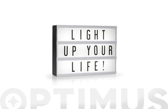 Lampara led box incluye juego de letras a5