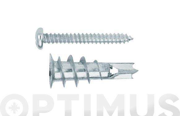 Taco metalico pladur con tornillo cabeza alomada din 7891 4,2 x 32