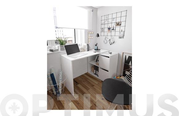 Mesa escritorio con modulo adaptable blanco artik 120 x 78 x 49 cm
