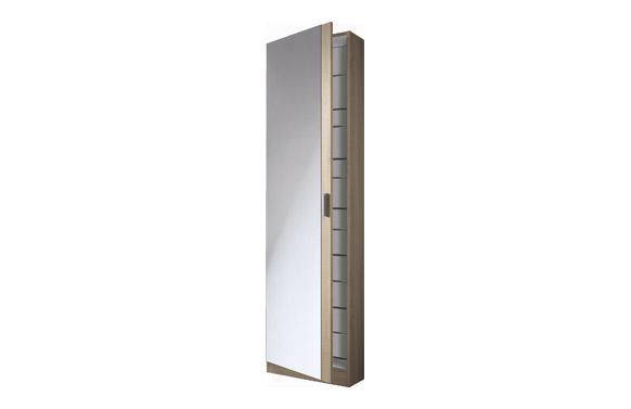Zapatero con espejo roble canadian 180 x 50 x 20 cm