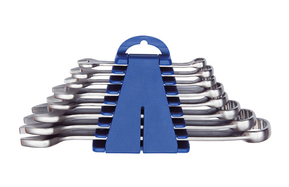Llave combinada cromo mate juego 8-22 mm 8 piezas