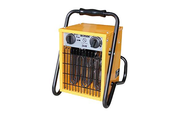 Calefactor profesional con soporte 650/1300/2000 w con termostato y asa de transporte