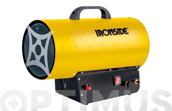 Calentador de aire portatil a gas 18 - 30 kw con termostato y asa de transporte