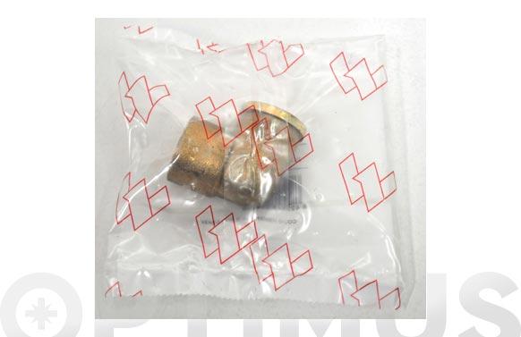 """Codo mixto rosca hembra laton/cobre 90 gr 15 mm x 3/4"""""""