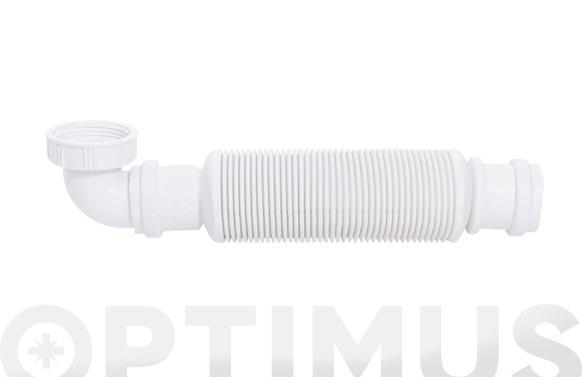 Sifon senzo 32 flexible universal 32 mm con valvula extraplano