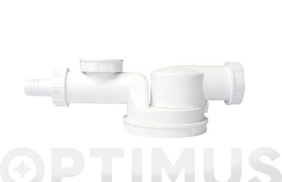Sifon espacio 1 seno orientable con valvula y toma espacios reducidos