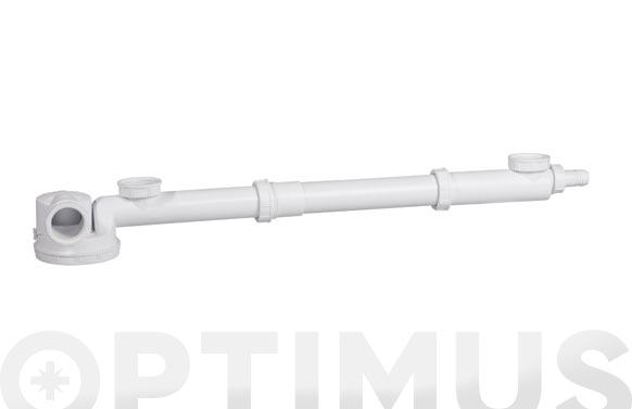 Sifon espacio 2 senos orientable con valvula y toma espacios reducidos