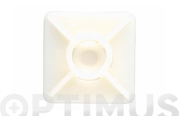 Base adhesiva para bridas nilon 19 x 19 blanca
