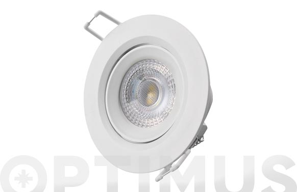 Downlight led de empotrar ø7,4cm 380lm blanco 5w 6400k