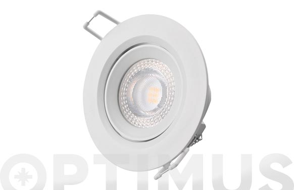 Downlight led de empotrar ø7,4cm 380lm blanco 5w 3200k