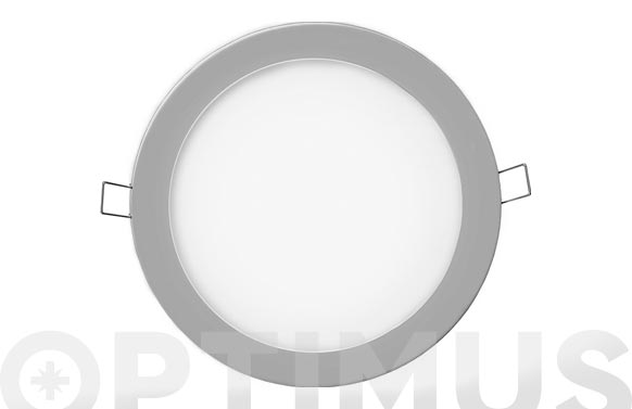 Downlight led de empotrar ø20cm 1500lm cromado 20w 6400k