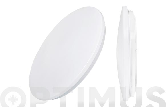 Aplique de superficie led ø33x6,6cm 1200lm blanco 18w 6400k