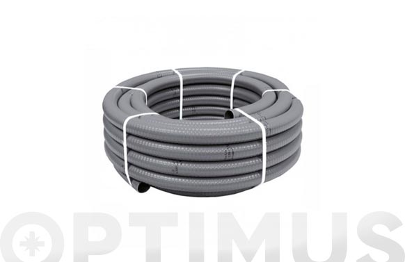 Tubo flexible evacuacion pvc gris ø 50 mm 25 mt