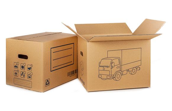 Caja carton mudanzas con asa troquelada 40 x 30 x 30 cm