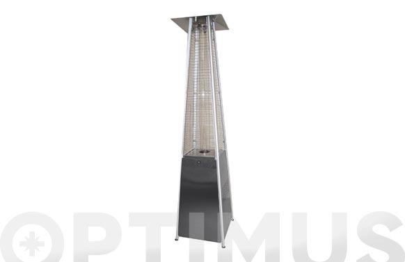 Estufa gas exterior piramide 1,80mt 11,5kw inox