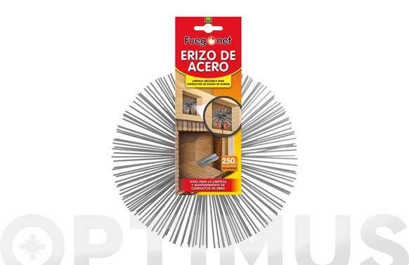 Erizo recambio kit deshollinador acero 250 mm