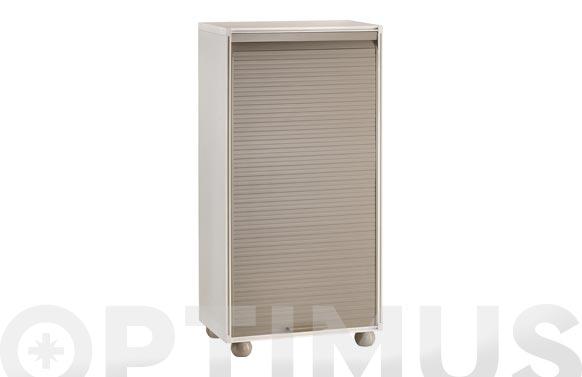 Armario modulo persiana taupe 126 x 62.5 x 35 cm