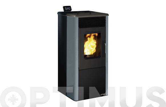 Estufa pellet 10kw tmc900 elegance wifi negro/gris