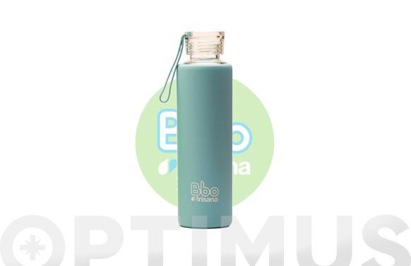 Botella borosilicato con silicona azul 550 ml