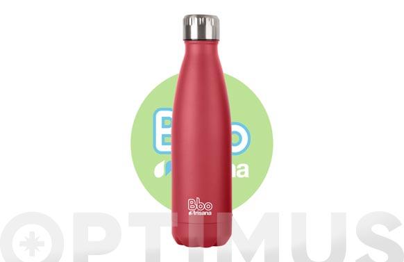 Botella termo inox rojo 500 ml