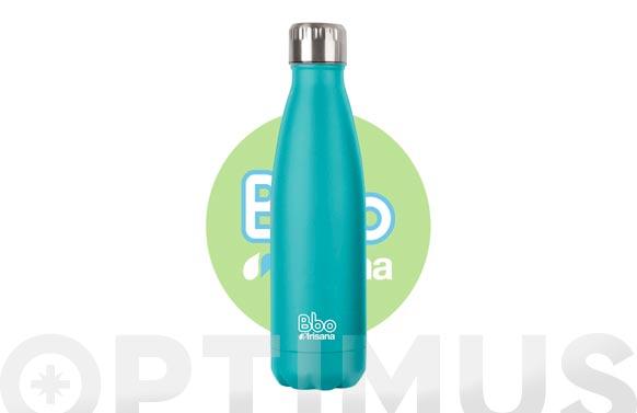 Botella termo inox turquesa 500 ml