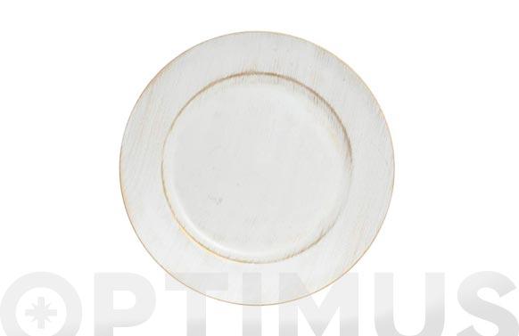 Bajoplato polipropileno decape blanco ø 33 cm