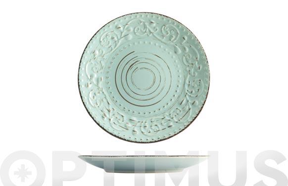 Plato stoneware courtyard mint postre-21 cm