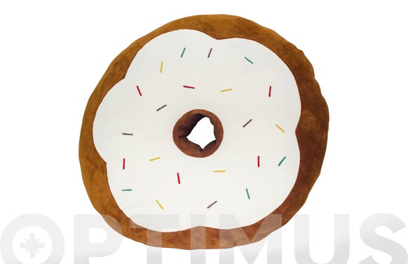 Cojin yummy marron-donut