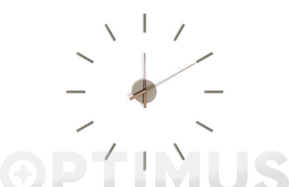 Reloj de pared adhesivo stick tack gris