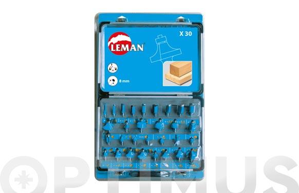 Fresa juego 30 piezas mango 8 mm