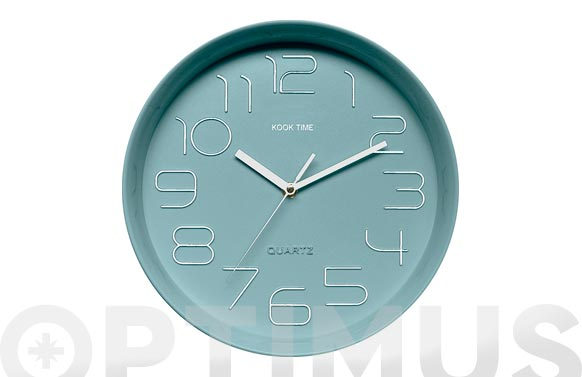 Reloj pared retro redondo verde