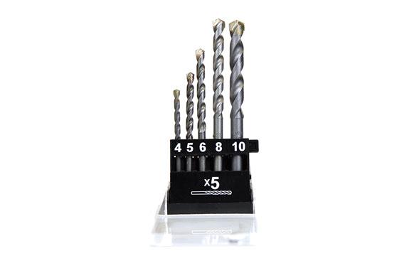 Broca para piedra pro juego 5 piezas ø 4 - 5 - 6 - 8 - 10