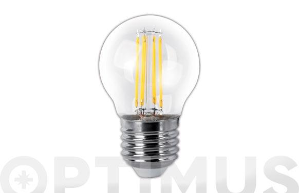 Lampara led esferica clara filamento e27 4 w luz calida