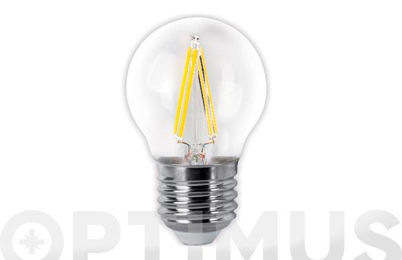 Lampara led esferica clara filamento e27 4 w luz fria