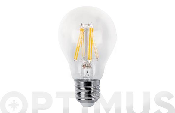 Lampara led estandar filamento clara e27 6 w luz calida
