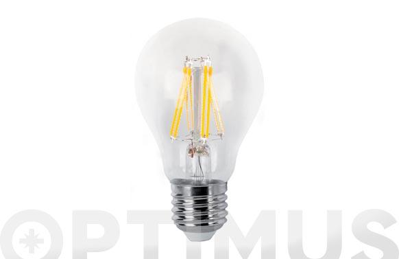 Lampara led estandar filamento clara e27 8 w luz calida