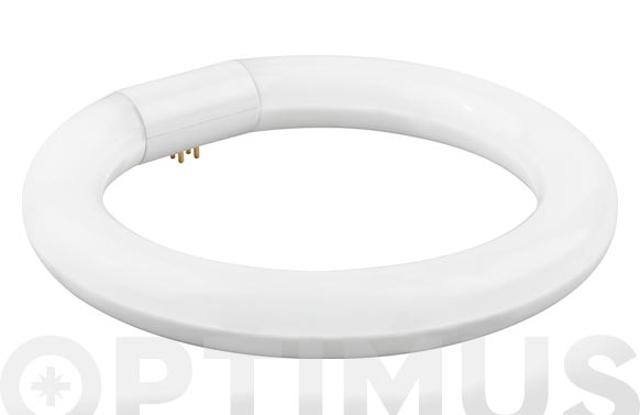 Fluorescente aluminio cristal led circular t-9 30 cm 20w luz fria