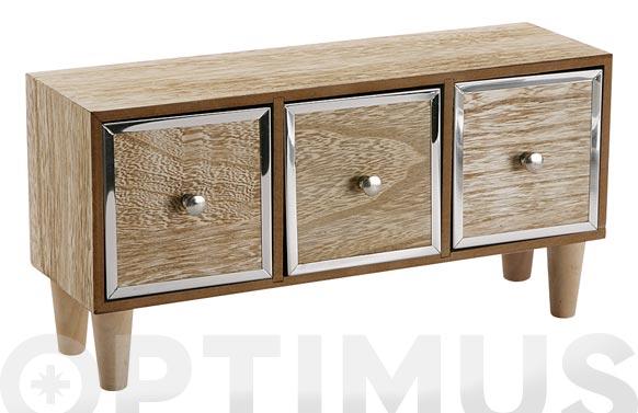 Joyero madera 32x11x18 cm
