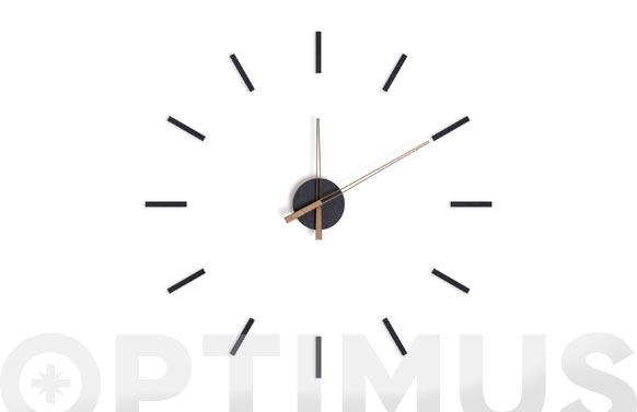 Reloj de pared adhesivo stick tack negro