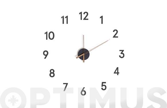 Reloj de pared adhesivo numeros momentum negro