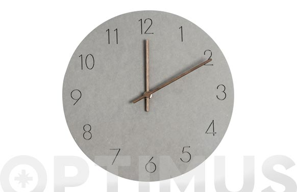 Reloj de pared bonne heure gris