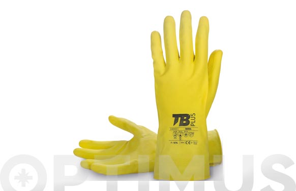 Guante latex amarillo flocado t 8/l, grosor: 0,45 mm, longitud: 30 cm