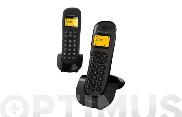 Telefono inalambrico c250 duo negro